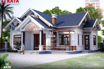 Mẫu biệt thự 1 tầng mái thái đẹp tại Quảng Bình – Mã số: BT 11038