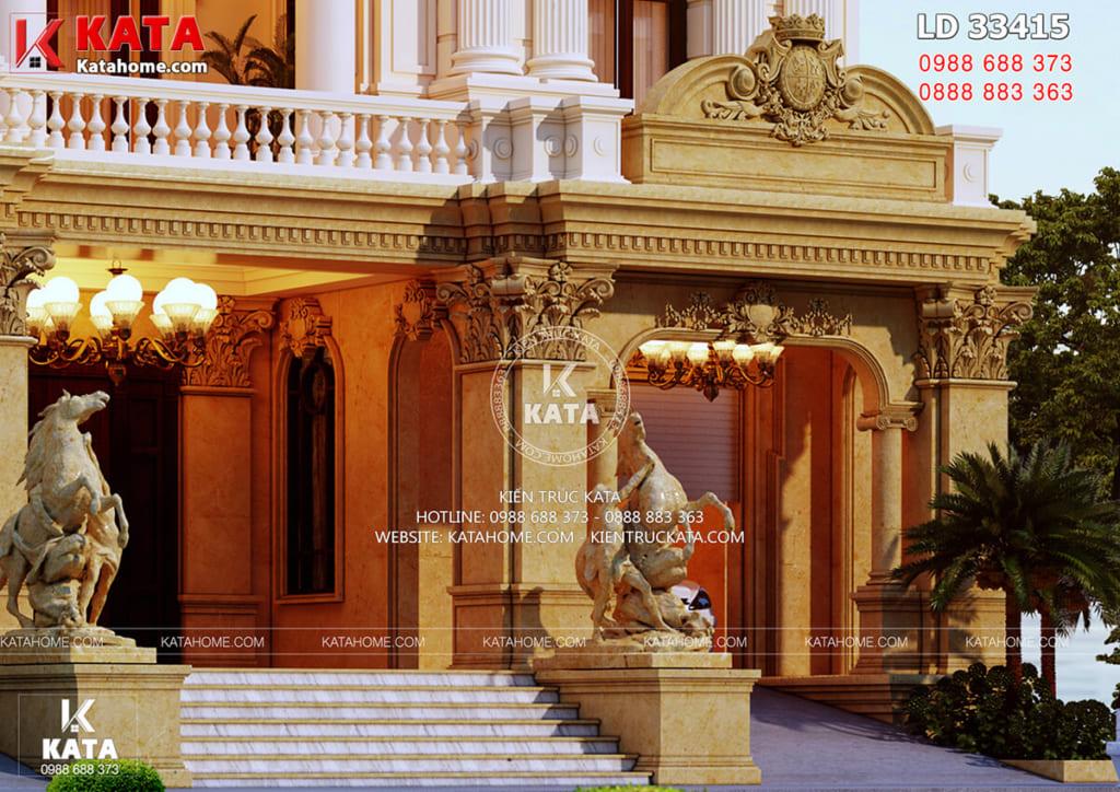 Thăm căn biệt thự 3 tầng tân cổ điển BT 33415
