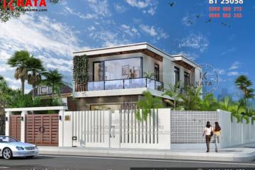 Tham quan biệt thự hiện đại 2 tầng – Mã số: BT 25058