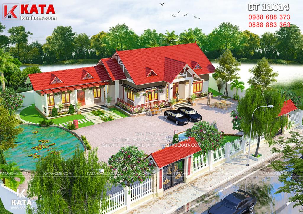 Thiết kế nhà cấp 4 hiện đại tại Nam Định BT 11014